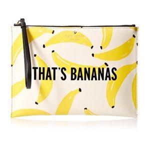 "NWT Kate Spade ""That's Bananas"" Bella Pouch"